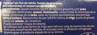 Palitos crema de queso con palitos de pan para mojar tarrinas - Ingredients