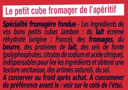 Apericube Jambon - Ingredients