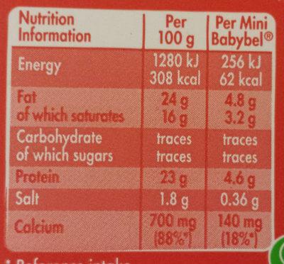 Mini Babybel Original - Nutrition facts Mini Babybel Original - Nutrition facts