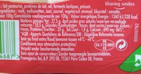 Babybel tranches - Informations nutritionnelles