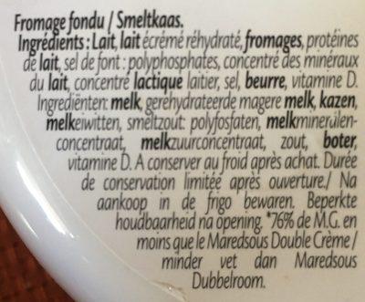 Fromage fondu Light 7% + vit. D & calcium - Ingrediënten - fr