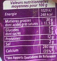 Apéricube Best of des Saveurs - Voedingswaarden - fr