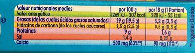 Kiri 8 Porciones Con Nata - Informació nutricional