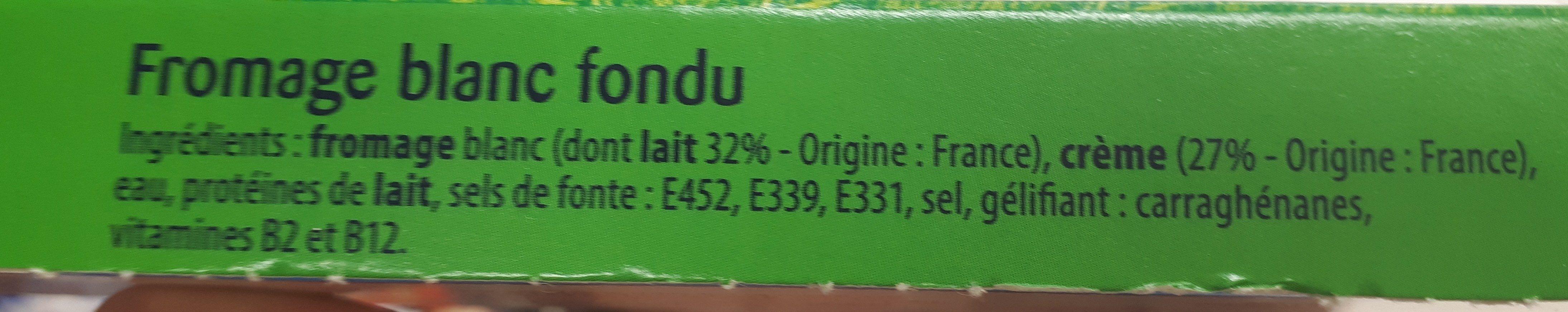 Queso fresco con nata - Ingredientes - fr