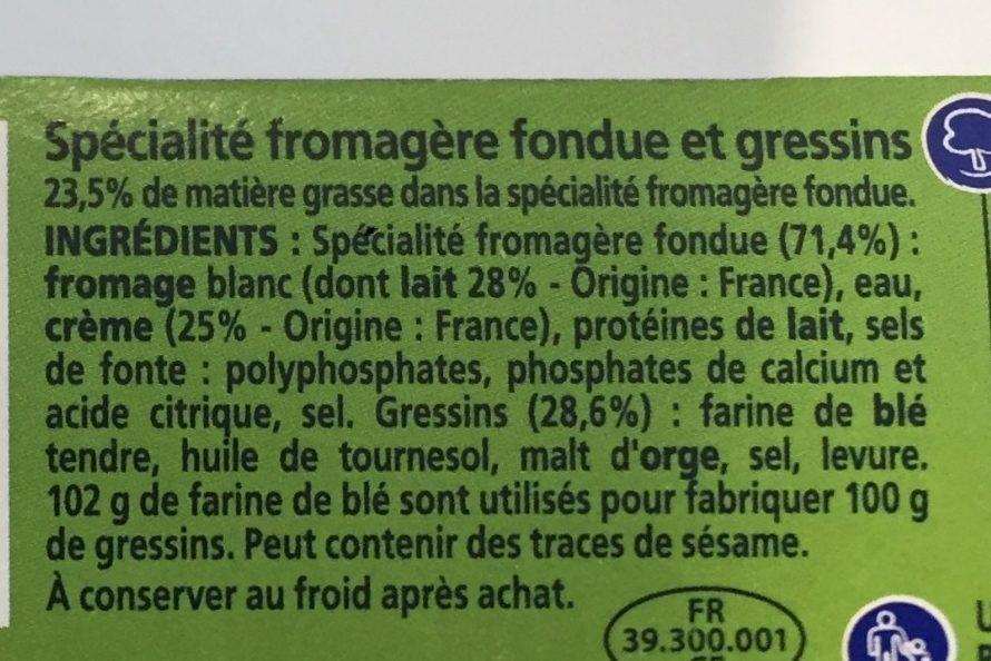 Kiri Goûter - Ingrediënten - fr
