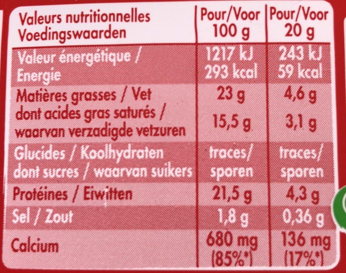 MiniBabybel - Ingredients - fr
