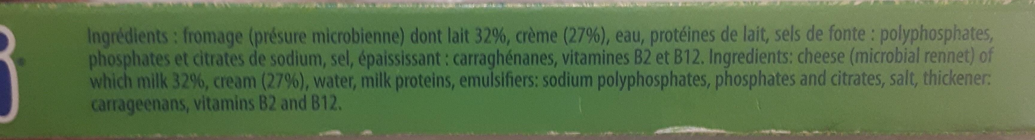 Fromage à la crème de lait - Ingrédients - fr