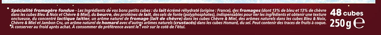 Apéricube Edition Limitée Dites Cheese à l'Apéro 48C - Ingrédients - fr