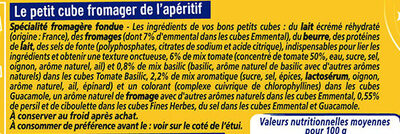 Apéricube Dites Cheese à l'Apero - Ingredients