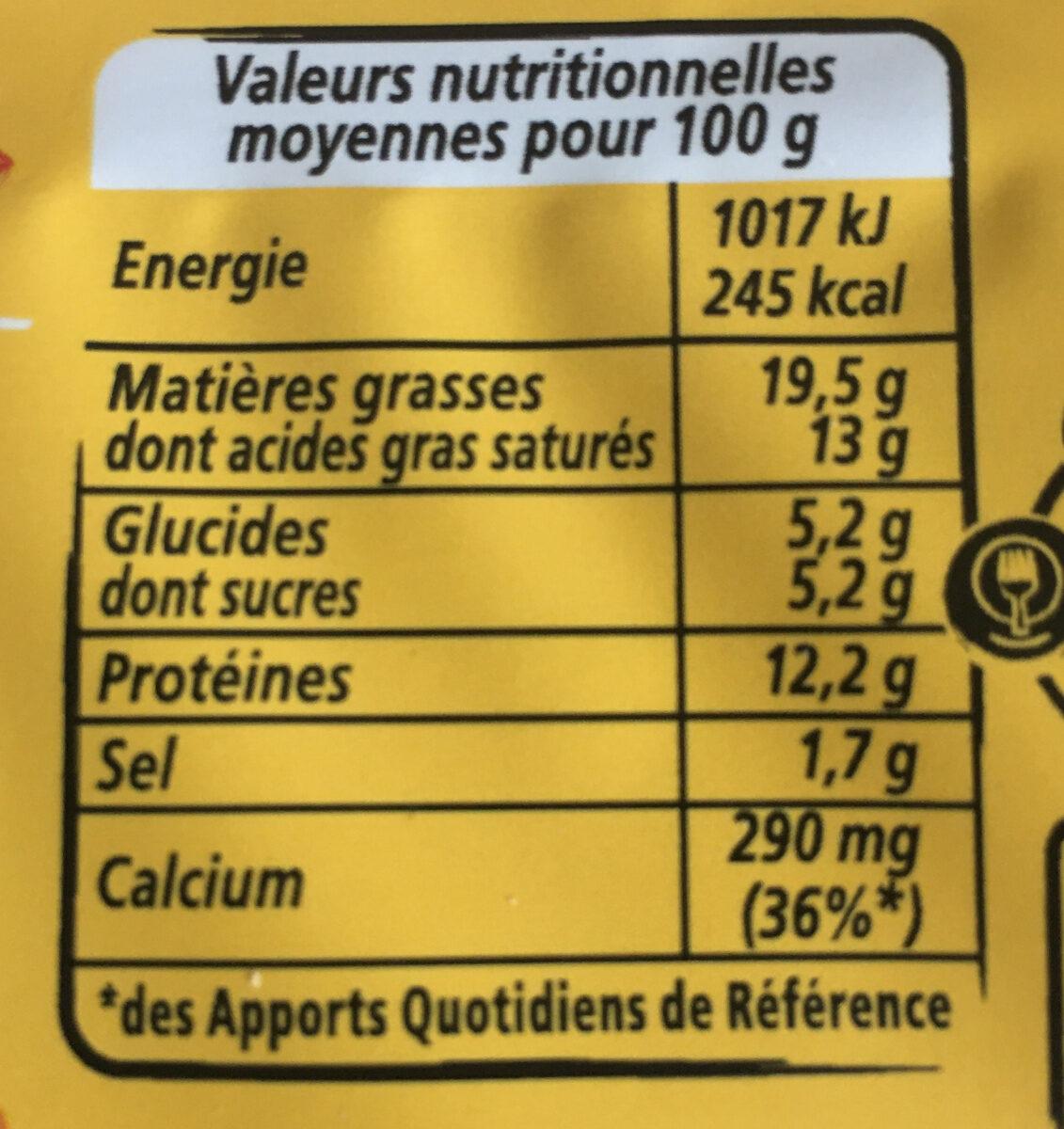 Apéricube Edition Limitée Dites Cheese à l'Apéro 48C - Informations nutritionnelles - fr