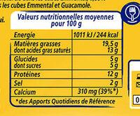Apéricube Dites Cheese à l'Apero - Nutrition facts