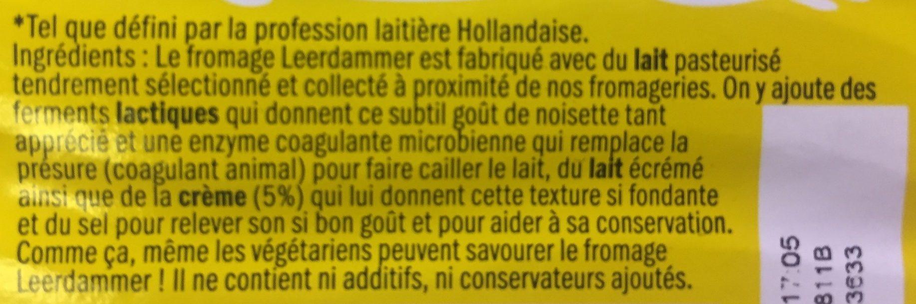 Leerdammer Le Moelleux - Ingredients - fr