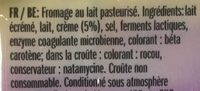 Le Moelleux 250G - Ingredients - fr
