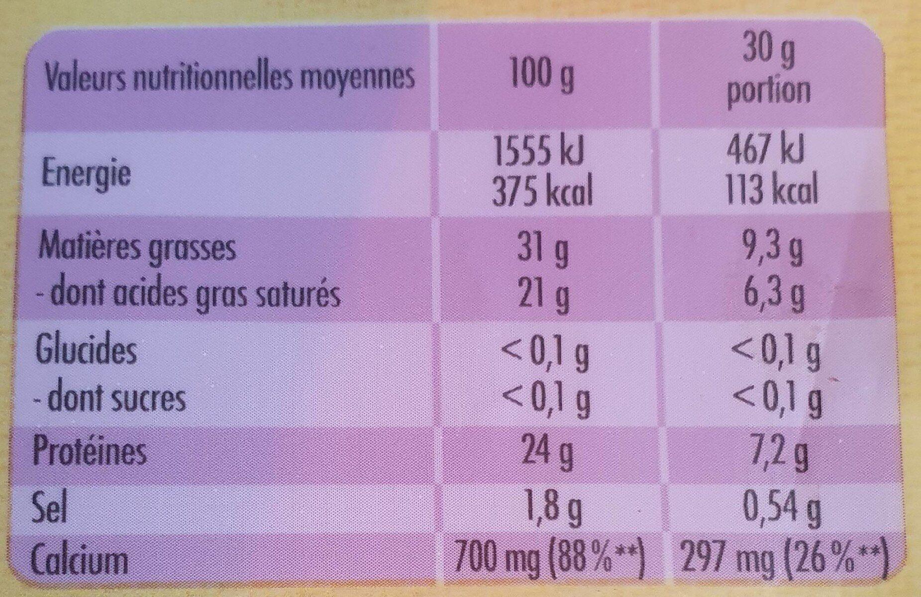 Le Moelleux 250G - Nutrition facts - fr