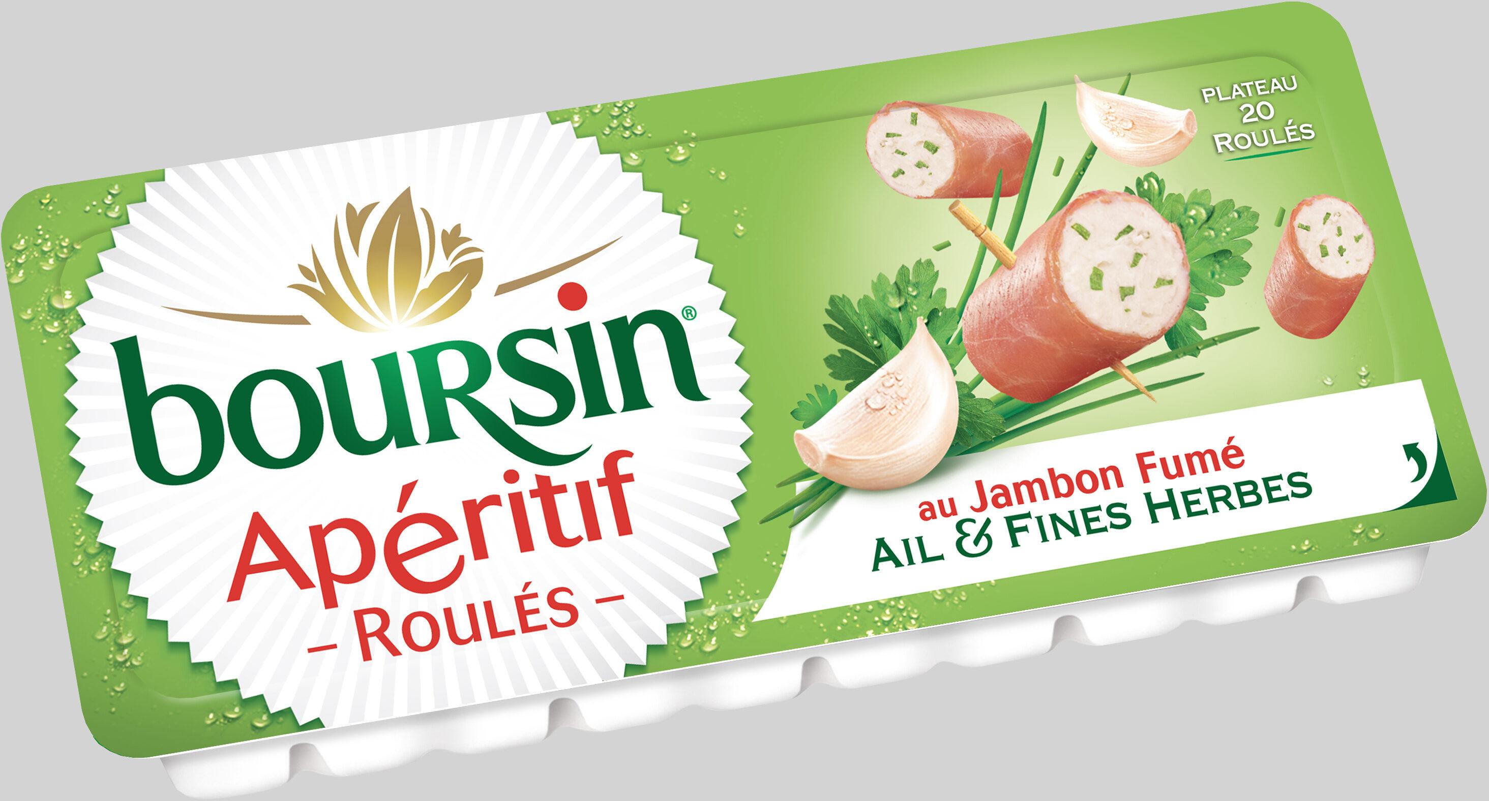 Les Roulés Boursin de Jambon Fumé (Ail & Fines Herbes) Plateau 20 Roulés - Produit - fr