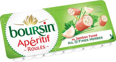 Boursin® Apéritif Les roulés Jambon fumé Ail & Fines Herbes - Produit - fr
