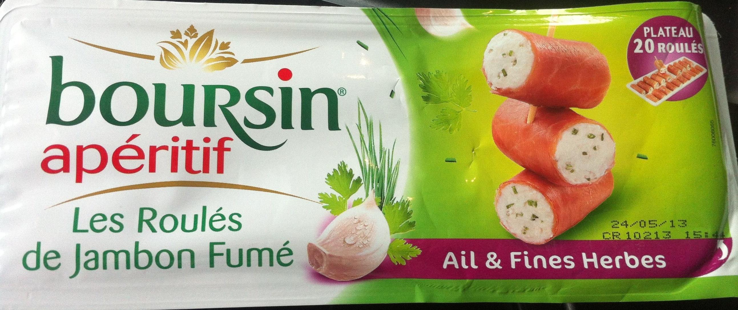 Les Roulés de Jambon Fumé (Ail & Fines Herbes) Plateau 20 Roulés - Produkt - fr