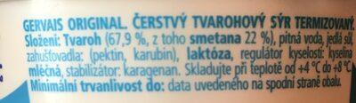 Gervais original - Ingredients - cs
