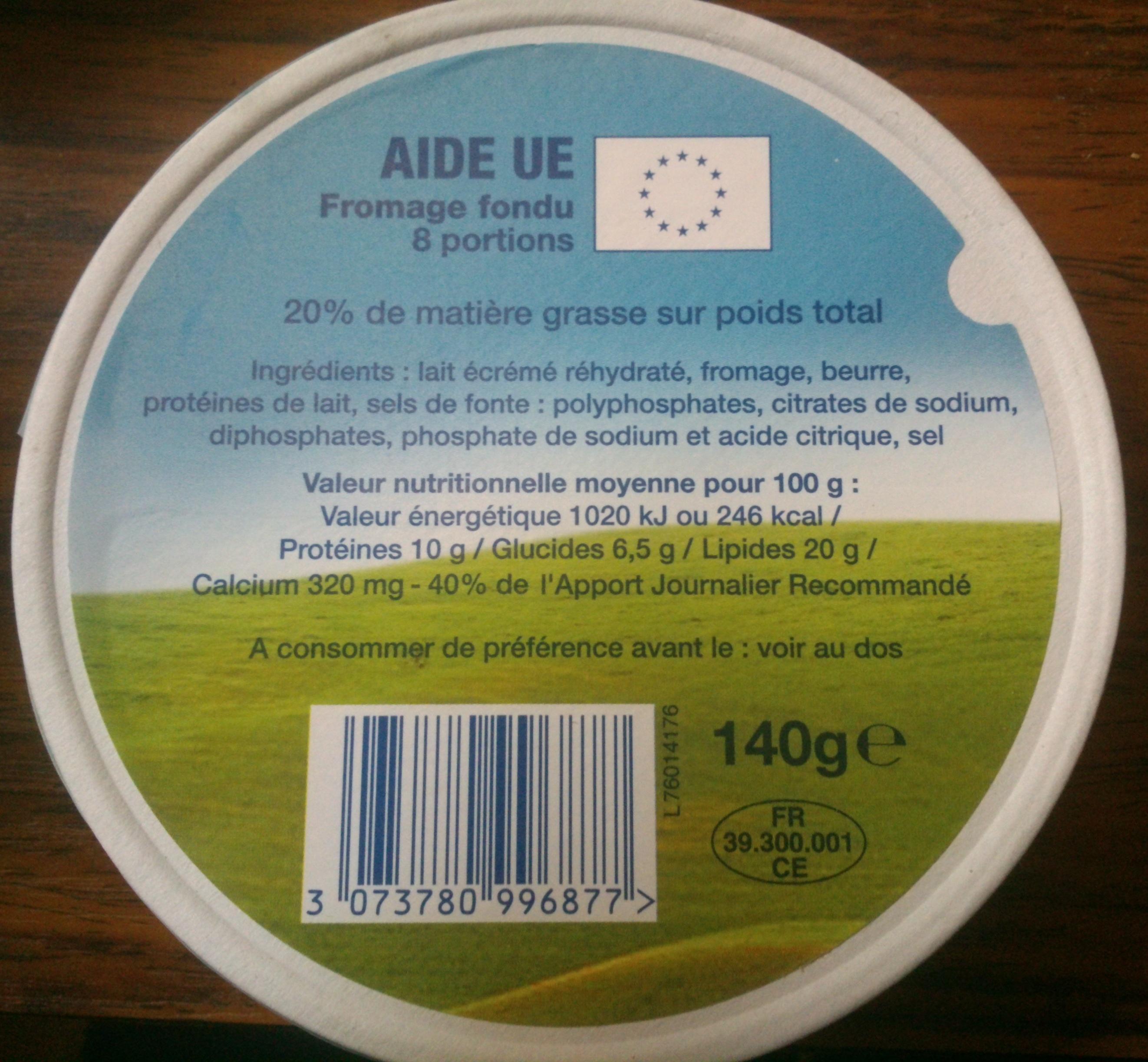 Fromage fondu 8 portions (20 % MG) - Produit - fr
