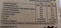 Six De Savoie 29% - Informations nutritionnelles - fr