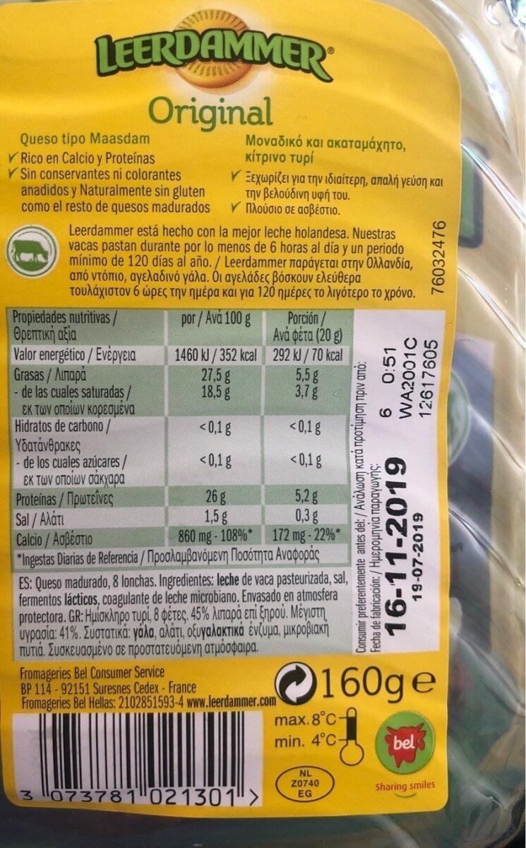 Original Plakken - Informations nutritionnelles - fr