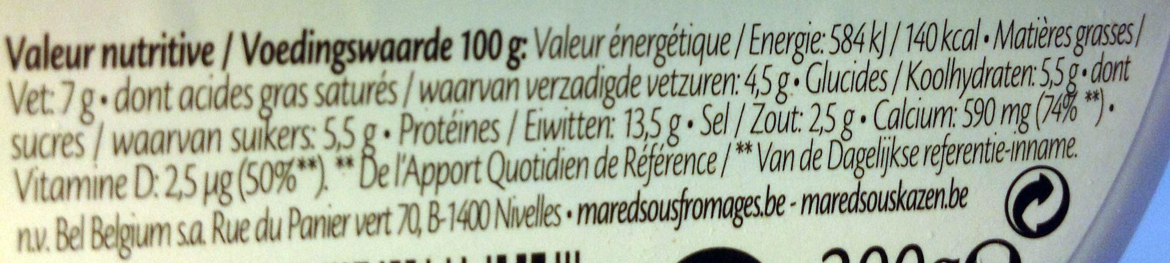 Nature Light 7% - Voedingswaarden