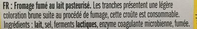 Leerdammer Fumé - Ingrediënten - fr
