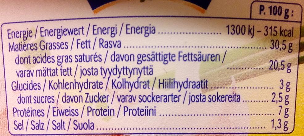 Cantadou Extra vitlök - Nutrition facts