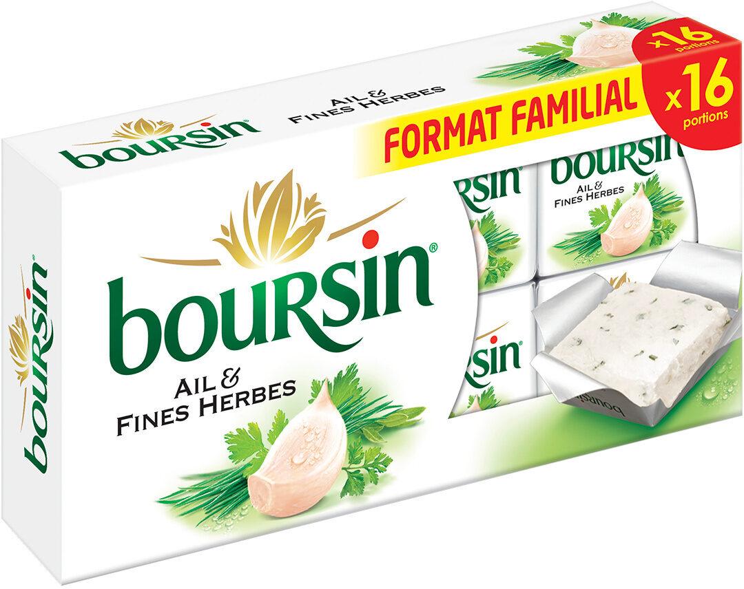 Boursin® Ail & Fines Herbes Portion x16 - Produit - fr