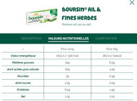 Boursin® Ail & Fines Herbes Portion x16 - Informations nutritionnelles - fr