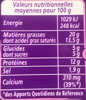 Apéricube Nature et Saveurs Fraîcheur 48C - Informations nutritionnelles - fr