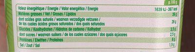Boursin salade & apéritif ail & fines herbes - Voedingswaarden - fr