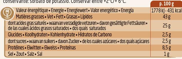 Salade & Apéritif, Noisettes et 3 Noix (43 % MG) - Nutrition facts - fr