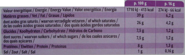 Figue & 3 Noix, x 10 portions - Nutrition facts - fr