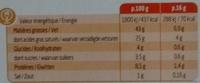 Noisettes & 3 Noix - 10 portions - Nutrition facts - fr