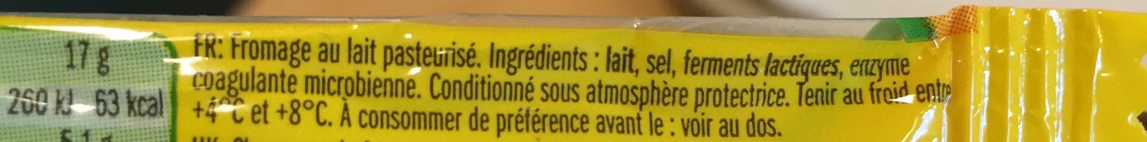 Leerdammer mini l'original - Ingrédients - fr