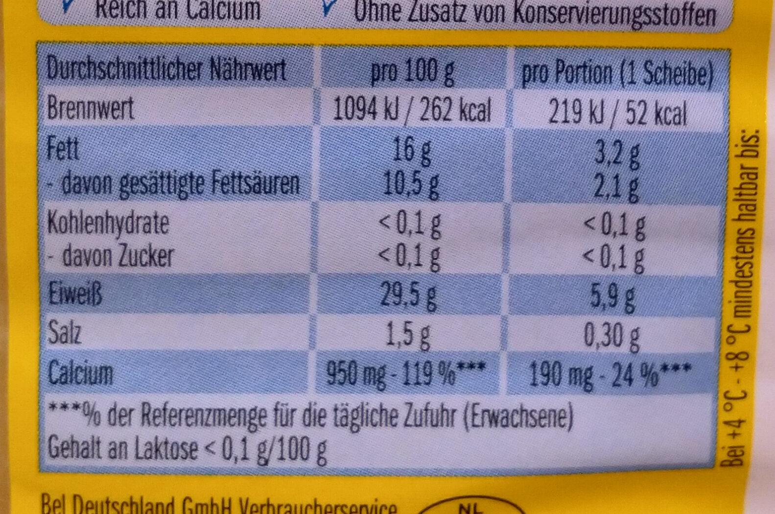 Leerdammer Léger - Informations nutritionnelles - fr