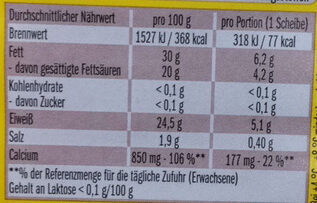Leerdammer Caractère - Informations nutritionnelles - fr