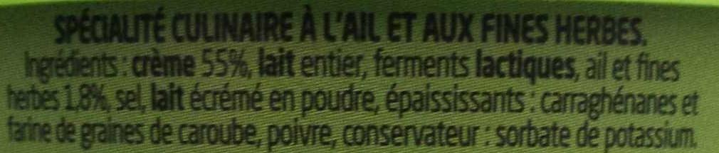 Boursin cuisine - Ingredientes - fr