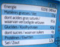 Boursin Ail Fines Herbes Light - Informations nutritionnelles - fr