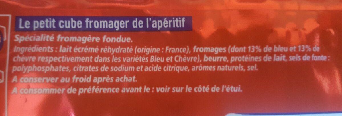 Apéricube Les saveurs Charcut' Fromages - Ingrédients