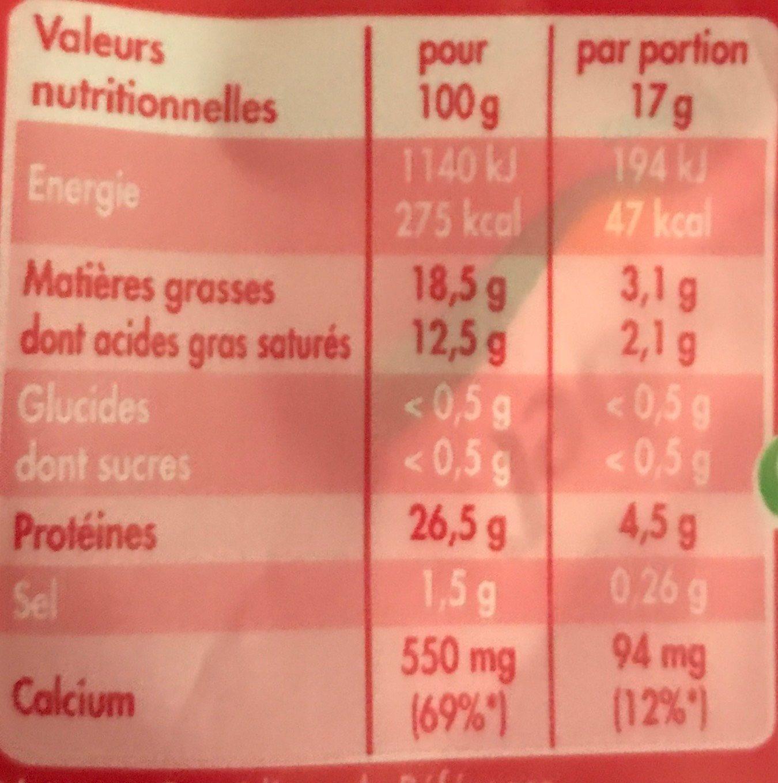 Mini Roulés - Informations nutritionnelles - fr