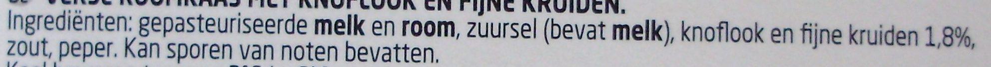 Boursin Ail et fines herbes - Ingrediënten - nl