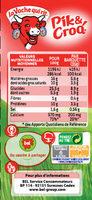 Pik & Croq' Gressins saveur Pizza - Voedingswaarden - fr