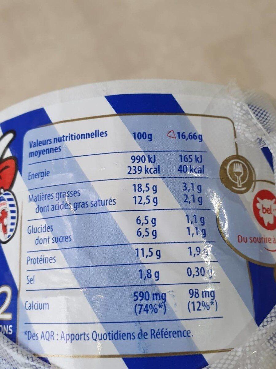 Vache qui rit 2x32p - Informations nutritionnelles - fr