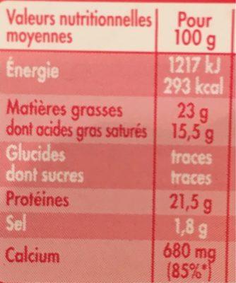 Mini Babybel - Voedingswaarden - fr
