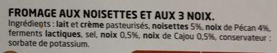 Noisettes & 3 noix - Ingredients - fr