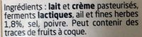 Boursin Ail et Fines Herbes - Ingredients - fr