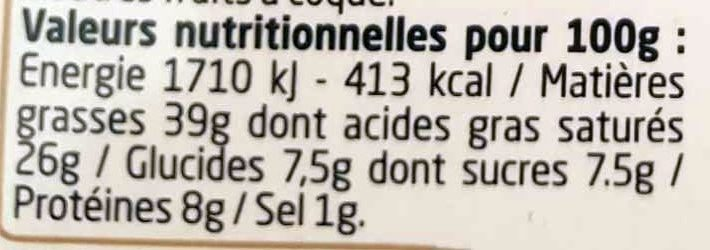 Figue & 3 Noix - Nutrition facts