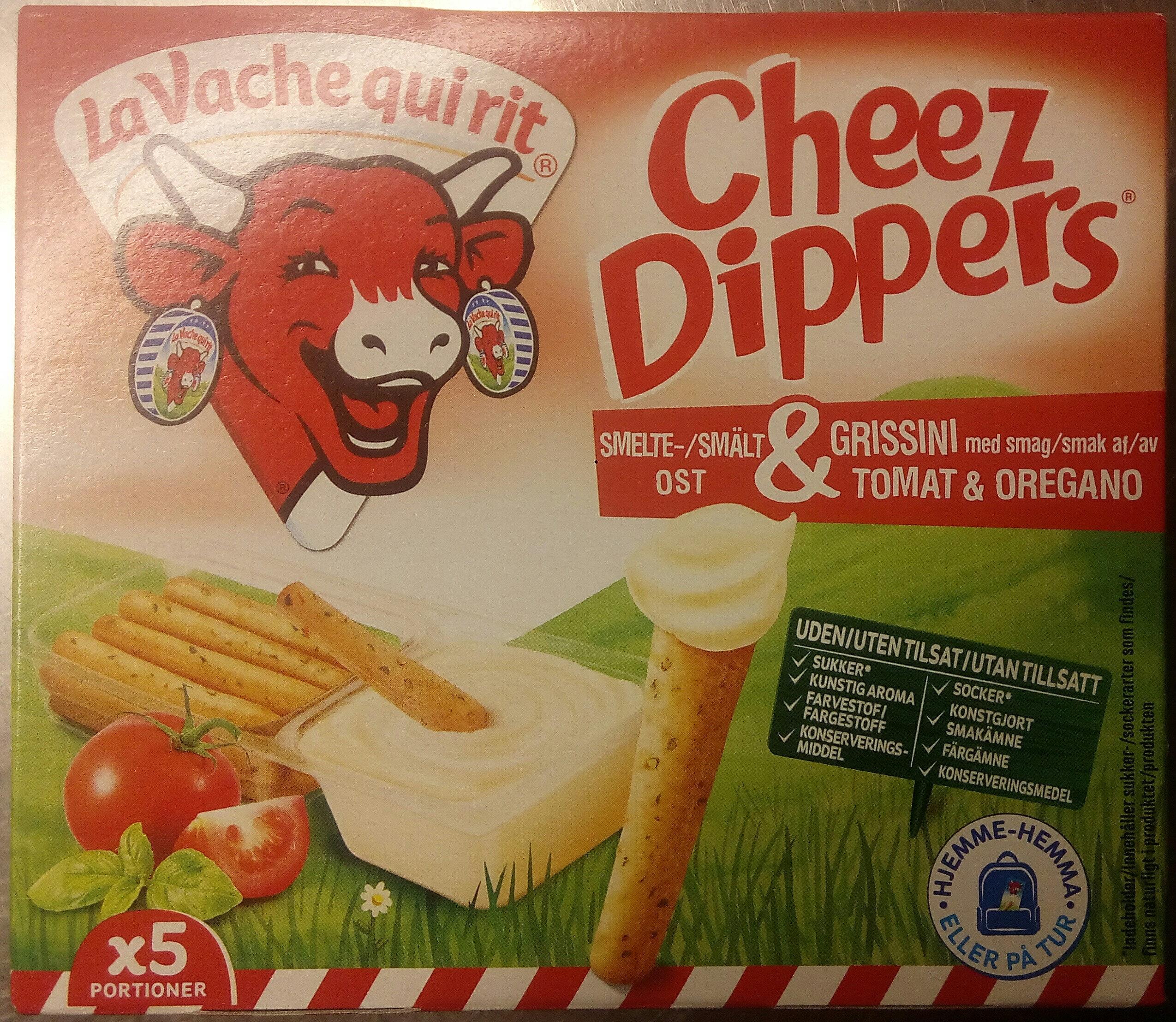 Cheez Dippers Smältost & grissini med smak av tomat & oregano - Produit - sv